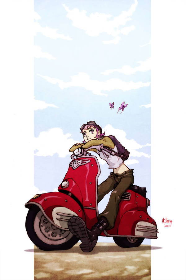 Scooter Girl Color by Michael-Chang