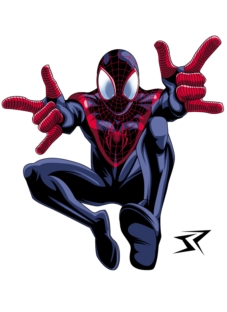 spiderman coloring pages miles morales - photo#13