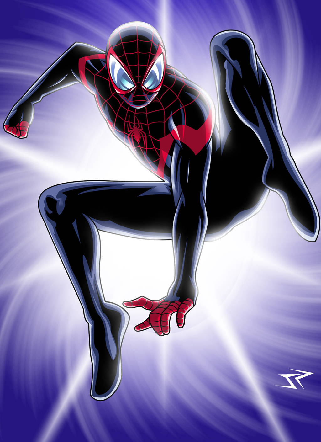 Ultimate Spiderman Miles Morales Art By Jonathanpiccini Jp On Deviantart