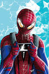 Spiderman play with smartphone