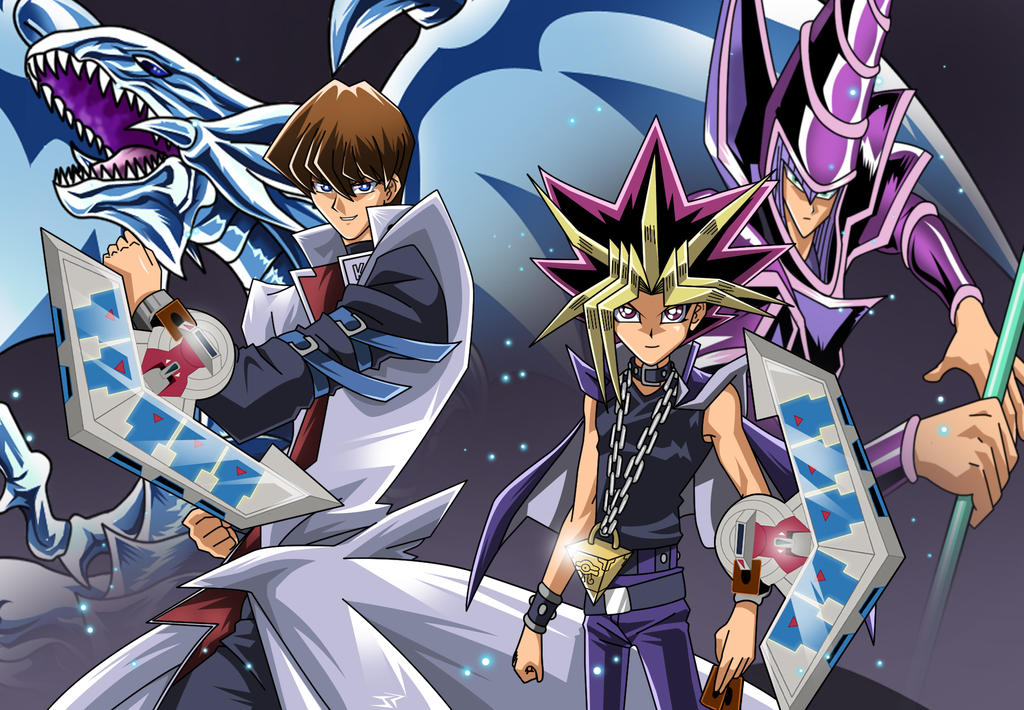 Yugioh Yami Yugi and Seto Kaiba illustration by JonathanPiccini-JP