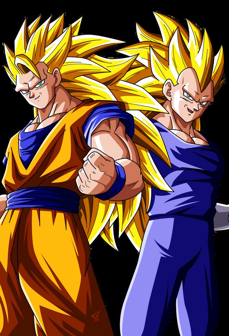 Goku Ssj3 And Vegeta Ssj3 to Colors by JonathanPiccini-JP ...
