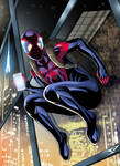 Ultimate Spiderman on the wall