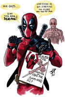 Sketch Deadpool by JonathanPiccini-JP