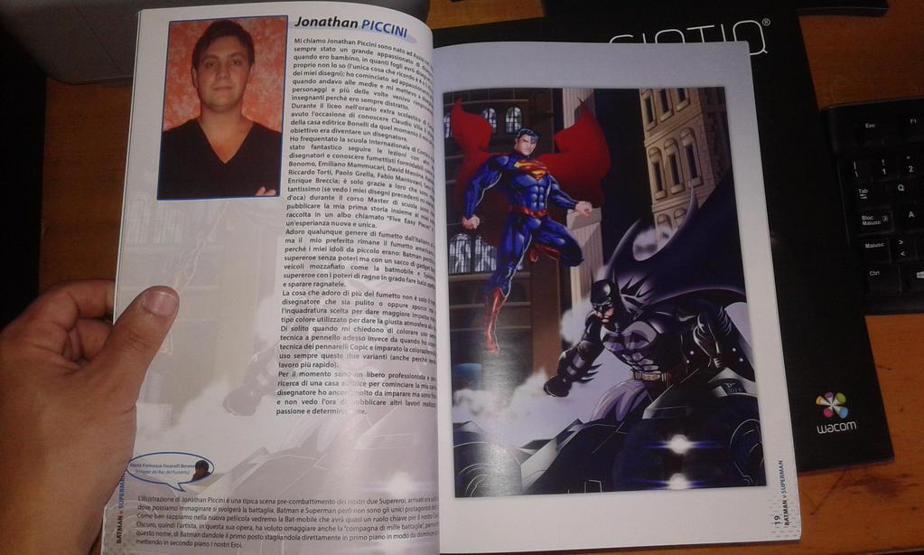 My Illustration on artbook fans Batman vs Superman by JonathanPiccini-JP