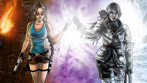 Tomb Raider Lara Classic meet Lara 2016 by JonathanPiccini-JP
