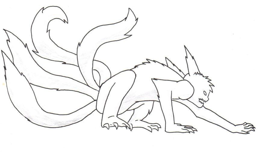 comment dessiner kyubi