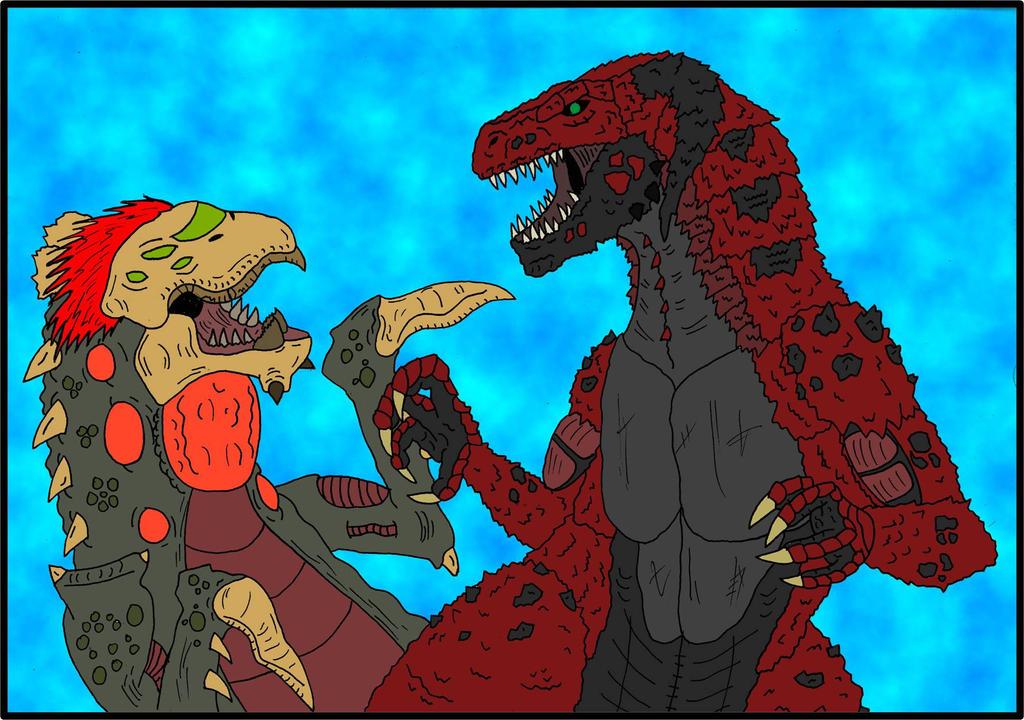 Crimson Crocodile  vs  C.C. Mutation Clone by Nyhlus-Lyitning