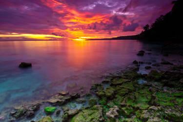 Sunset At Yendidori Beach by rosekampoong