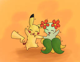 AT: Pikachu and Bellossom