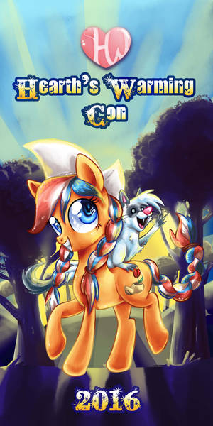 Hearth's Warming Con stand banner