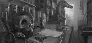 Study Room by Lothrean