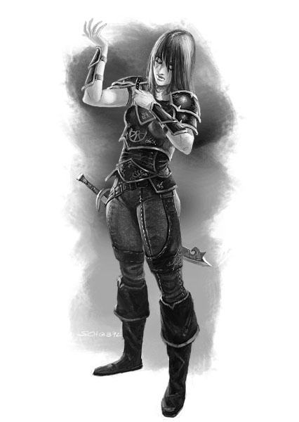 Mengbiller-Kriegerin by Lothrean