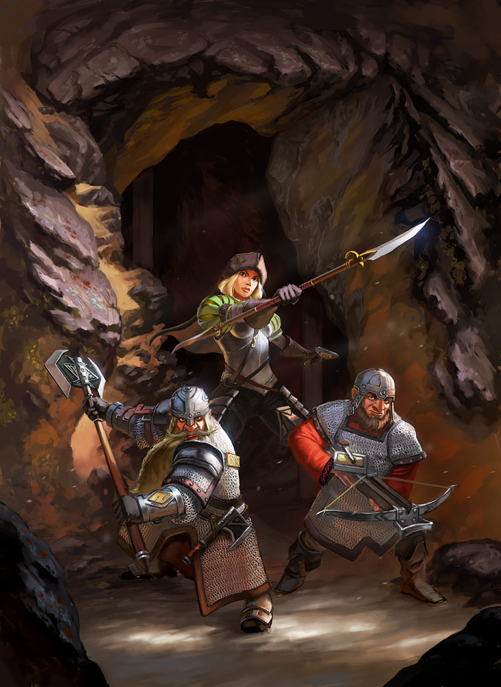Dwarven Mercenaries by Lothrean
