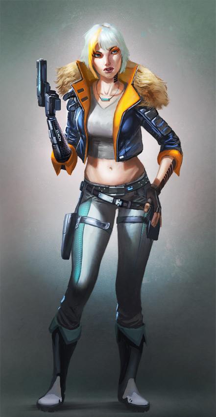 Cyber Punk Girl by Lothrean