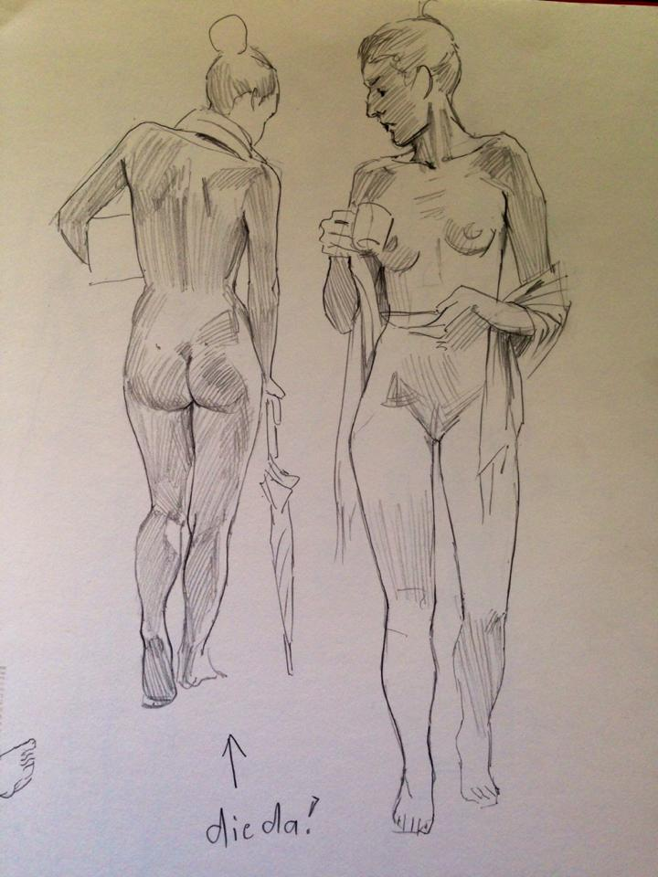 Nude-drawing by Lothrean