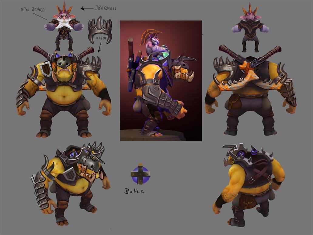 Dota 2 - Alchemist Set by Lothrean