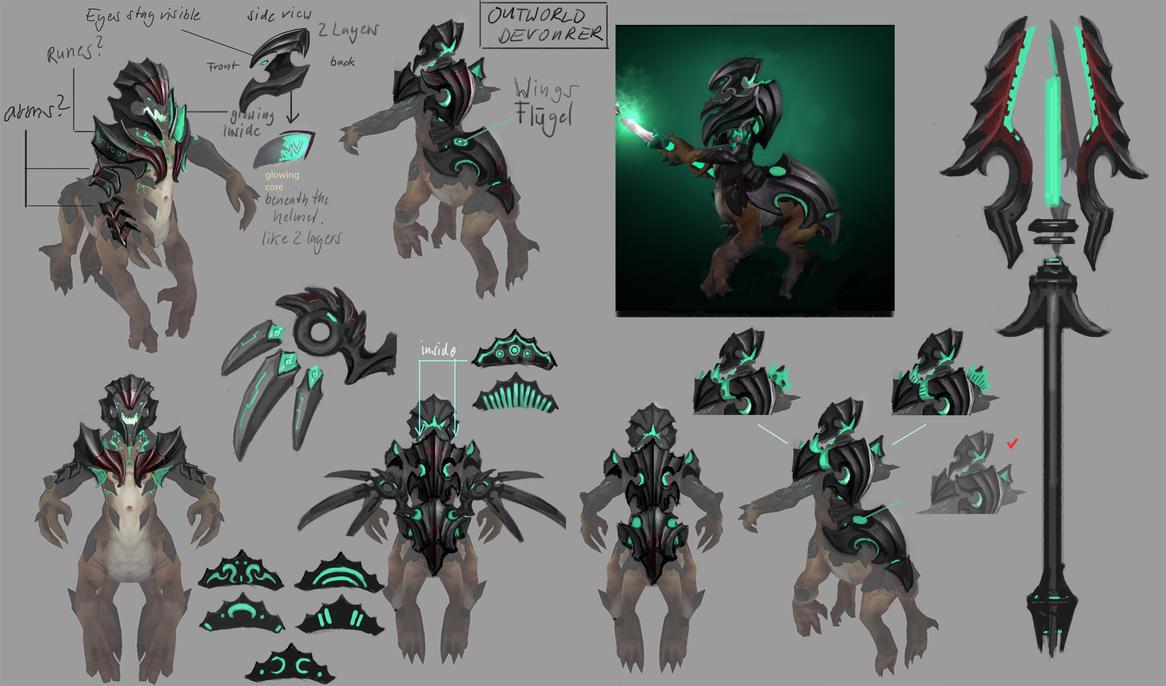 Dota 2 - Outworld Devourer Set by Lothrean