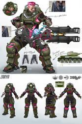 Overwatch - Zarya Vintage Tank Concept