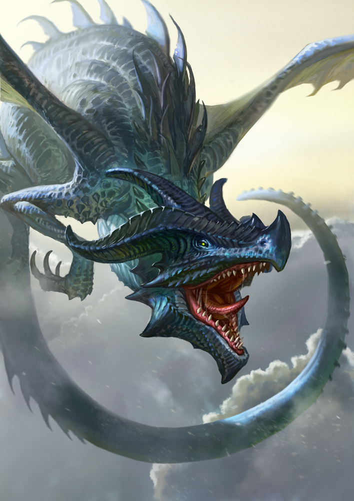 Blue Dragon by Lothrean