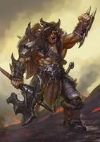 Ork Warlord by Lothrean