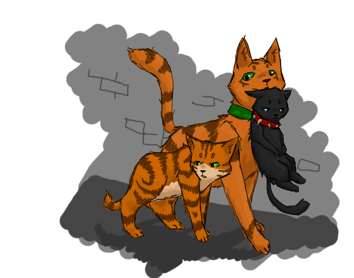 Small Picture Of A Warrior Cat Firepaw
