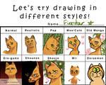 Different Styles Meme: Firestar
