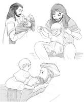 the durins and babies by TigerMoonCat