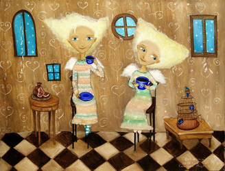 Two Fairies by Ha-Ru-Ki