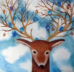 A Kind Deer by Ha-Ru-Ki
