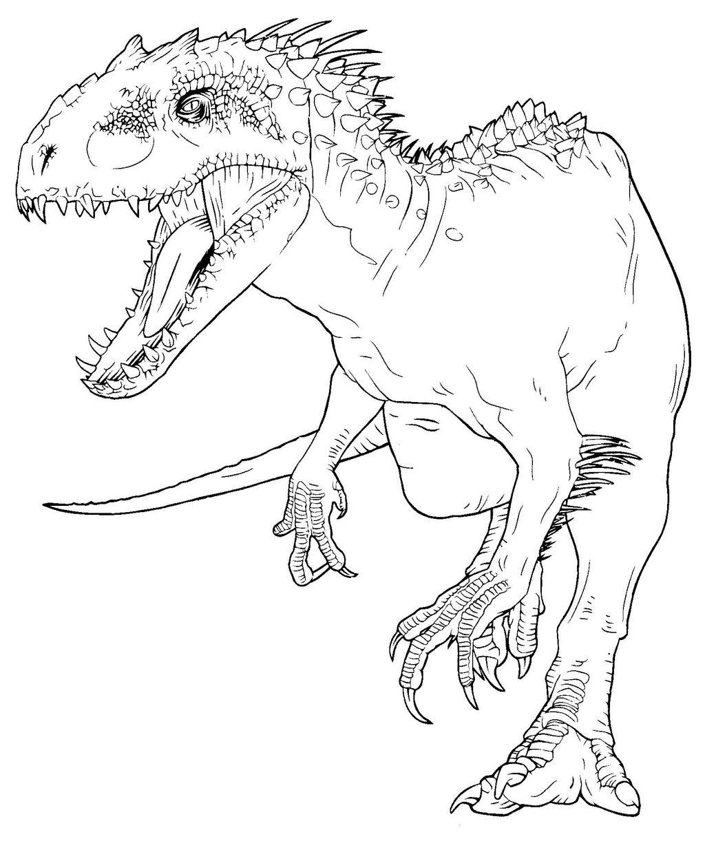 JW color book Indominus Rex 3 by indominus-rex15 on DeviantArt