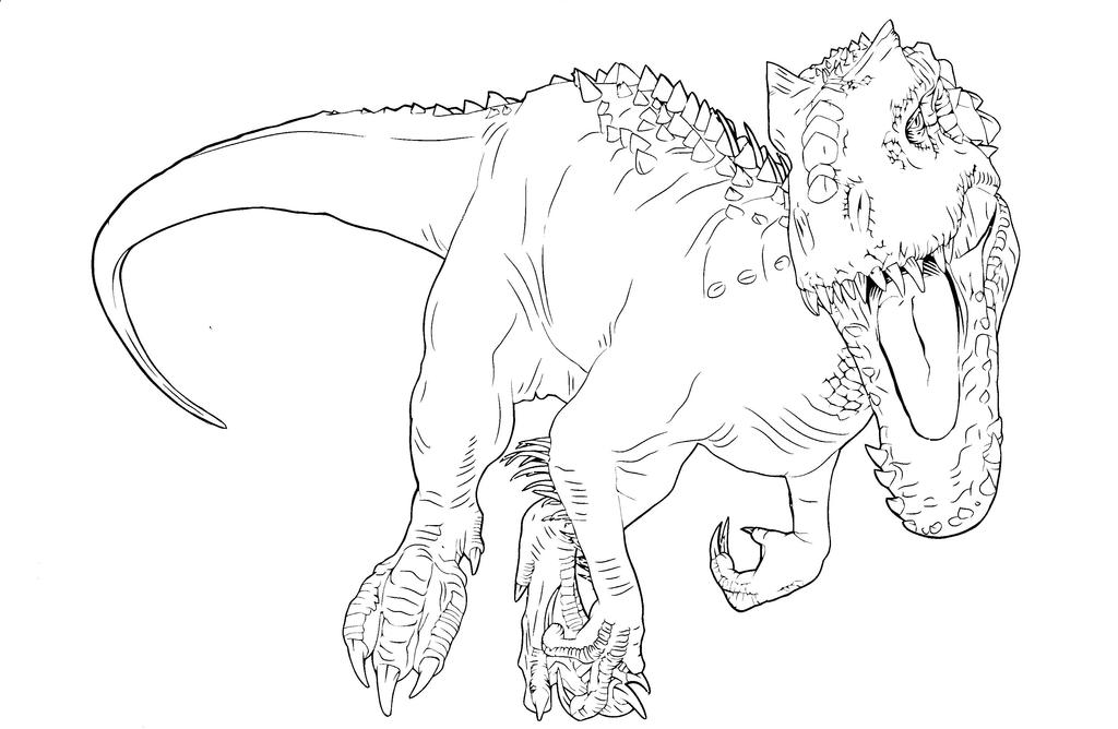 Indominus Rex Coloring Pages Coloring Pages