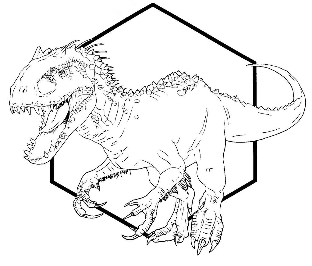 indominus rex jurassic world coloring pages - photo #15