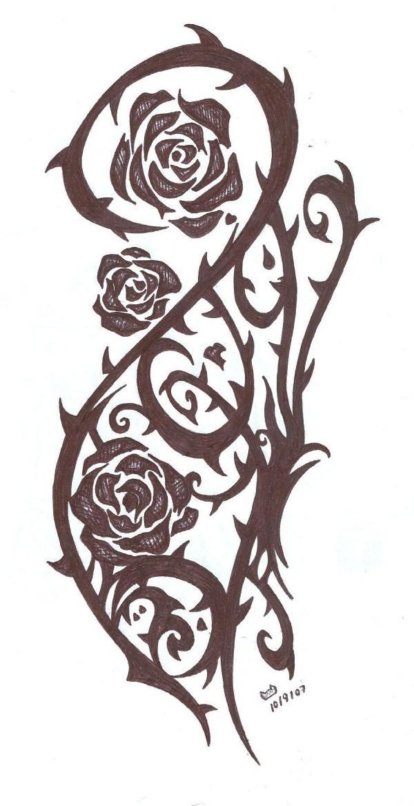 Rose Vine Drawing Tattoo Rose vine drawing tattoo vineRose Vine Drawing Tattoo