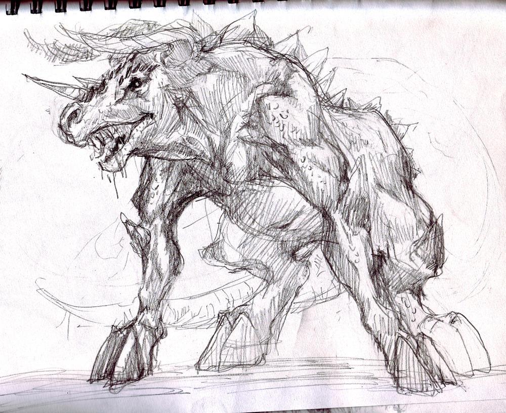 Bull demon design03 by kingmong