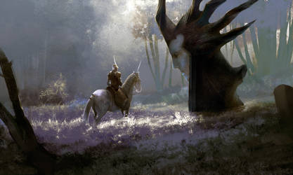 elven forest/ by ghostbow