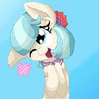Coco Pommel Pixel Pony by GummyTheMlpAlligator