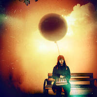 flying balloons on the shadow by KalbiCamdan