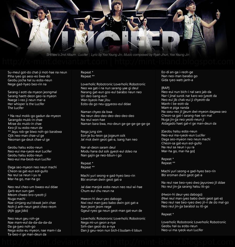 SHINee Lucifer Lyrics By X-mint On DeviantArt