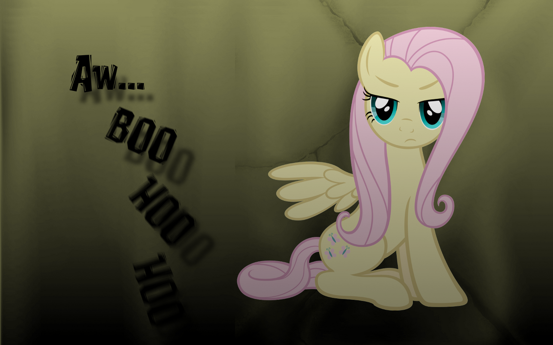 Fluttershy - Aw Boo Hoo Hoo Wallpaper by hopeabandoner