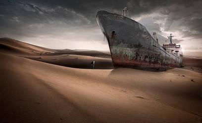 Desert Ship by almiller