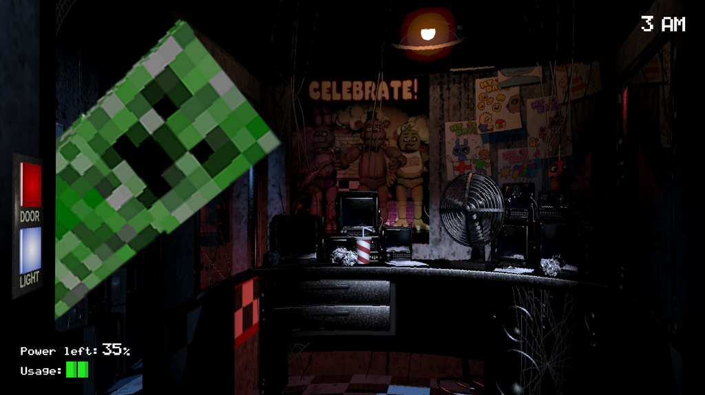 Five night s at freddy s meme minecraft by bombertim d7weuhr png