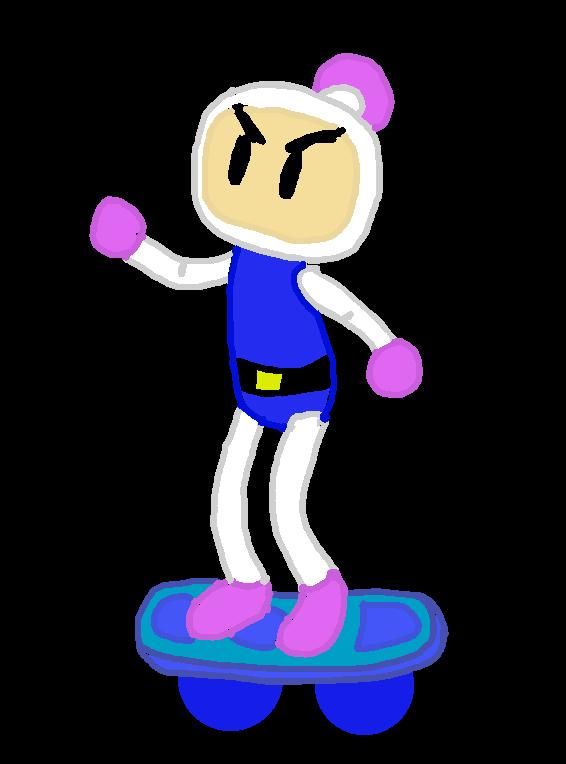 Bomberman Hoverboard by BomberTim