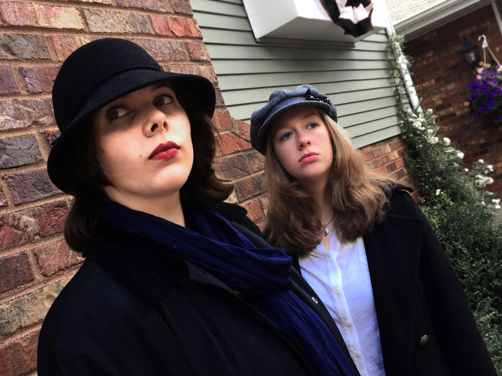Genderbent Sherlock and Watson Cosplay by Storming777