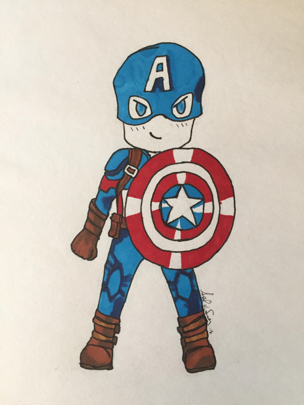 Chibi Captain America by Storming777