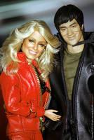 Bruce Lee and Farrah Fawcett head out! by farrahlfawcett
