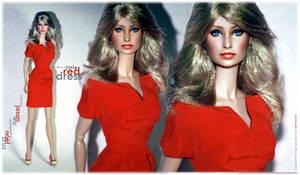Little Red Dress with Titles by farrahlfawcett