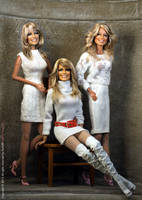 A trio of Farrah's by Noel Cruz by farrahlfawcett