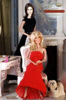 Sabrina and Jill by farrahlfawcett
