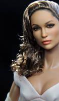 Jennifer Lopez as repainted by artist Noel Cruz by farrahlfawcett